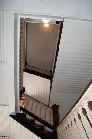 Primary view of object titled '[Photograph of a Stairwell]'.