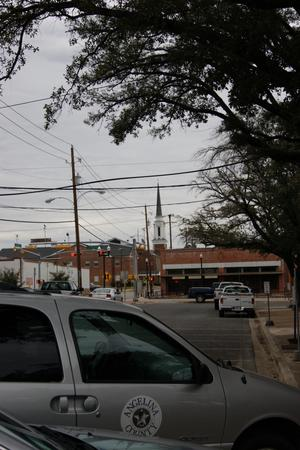 Primary view of object titled '[Street Scene in Lufkin]'.