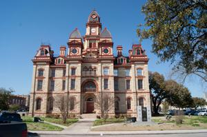 Primary view of object titled '[Front Exterior of Caldwell County Courthouse]'.