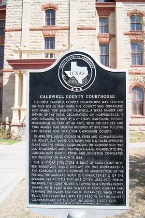 [Plaque Outside Caldwell County Courthouse]