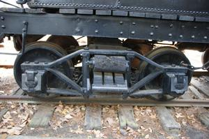 Primary view of object titled '[Photograph of Train Wheels]'.