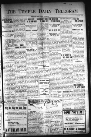 Primary view of object titled 'The Temple Daily Telegram (Temple, Tex.), Vol. 1, No. 136, Ed. 1 Friday, April 24, 1908'.