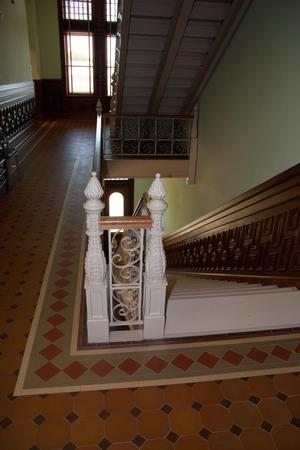Primary view of object titled '[Flight of Stairs in Courthouse]'.