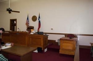 Desks in Courtroom