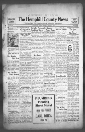 Primary view of object titled 'The Hemphill County News (Canadian, Tex), Vol. 3, No. 43, Ed. 1, Friday, July 11, 1941'.