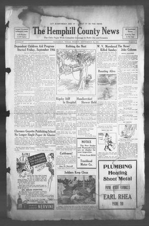 Primary view of object titled 'The Hemphill County News (Canadian, Tex), Vol. 4, No. 2, Ed. 1, Friday, September 26, 1941'.