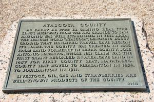 [Plaque About Atascosa County]