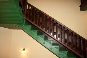 Primary view of object titled '[Photograph of Green Staircase]'.