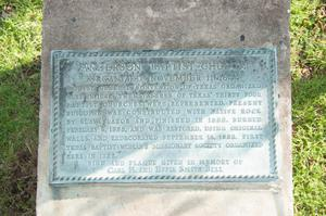 Primary view of object titled '[Anderson Baptist Church Plaque]'.