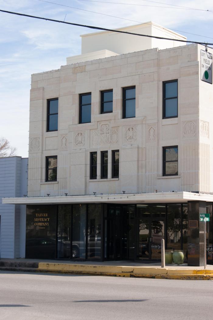 Exterior Of Tarver Abstract Company The Portal To Texas History