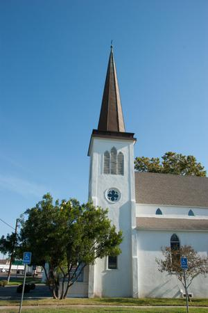 [Photograph of a Church Steeple]