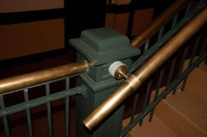 Primary view of object titled '[Close-Up of Staircase Railing]'.