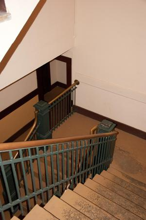 Primary view of object titled '[Photograph of Flight of Stairs]'.