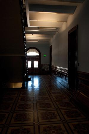 Primary view of object titled '[Photograph of a Hallway]'.