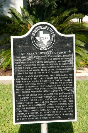 Primary view of object titled '[St. Mark's Lutheran Church Plaque]'.