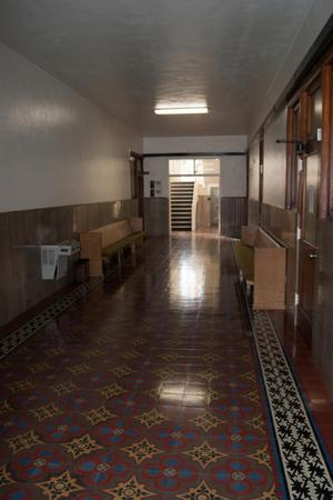 Primary view of object titled '[Hallway in Liberty County Courthouse]'.
