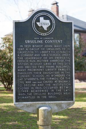 Primary view of object titled '[Plaque Outside Site of Ursuline Convent]'.