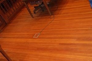 Primary view of object titled '[Photograph of Hardwood Floor]'.