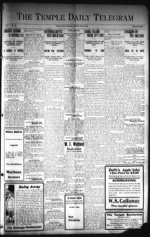 Primary view of object titled 'The Temple Daily Telegram (Temple, Tex.), Vol. 1, No. 188, Ed. 1 Wednesday, June 24, 1908'.
