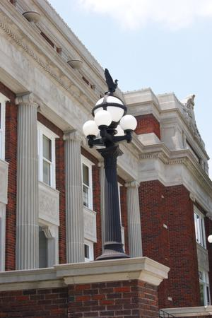 Primary view of [Lamp Outside Courthouse]