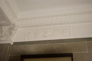 Primary view of object titled '[Photograph of Detail on Ceiling]'.
