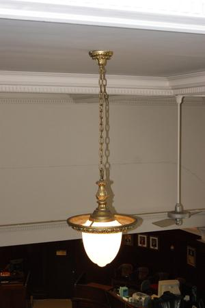 Primary view of object titled '[Photograph of a Ceiling Lamp]'.