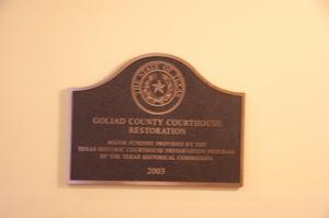 Primary view of object titled '[Photograph of Plaque in Courthouse]'.