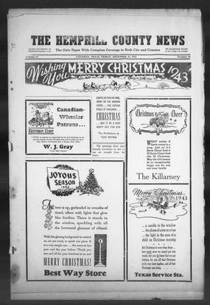 Primary view of object titled 'The Hemphill County News (Canadian, Tex), Vol. 6, No. 13, Ed. 1, Friday, December 24, 1943'.