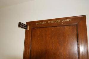 Primary view of object titled '[Door to Courtroom Balcony]'.