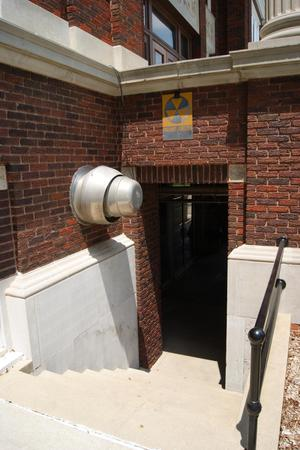 Primary view of object titled '[Entrance to Fallout Shelter]'.