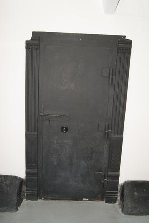 Primary view of object titled '[Photograph of a Safe Door]'.