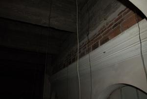 Primary view of object titled '[Wires Hanging From Ceiling]'.