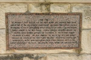 Primary view of object titled '[Plaque about Courthouse Fire]'.