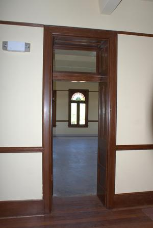 Primary view of object titled '[Photograph of an Open Door]'.