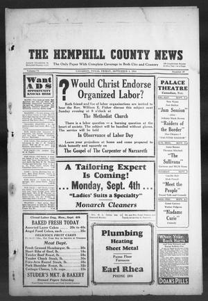 Primary view of object titled 'The Hemphill County News (Canadian, Tex), Vol. 6, No. 49, Ed. 1, Friday, September 1, 1944'.