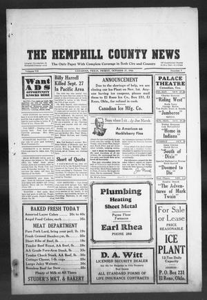 Primary view of object titled 'The Hemphill County News (Canadian, Tex), Vol. 7, No. 7, Ed. 1, Friday, October 27, 1944'.