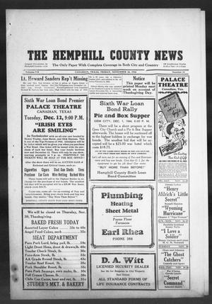 Primary view of object titled 'The Hemphill County News (Canadian, Tex), Vol. 7, No. 11, Ed. 1, Friday, November 24, 1944'.