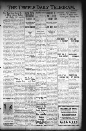 Primary view of object titled 'The Temple Daily Telegram. (Temple, Tex.), Vol. 3, No. 160, Ed. 1 Tuesday, May 24, 1910'.