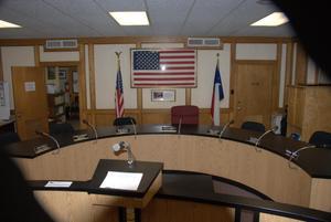 [Photograph of Semi-Circular Desk]