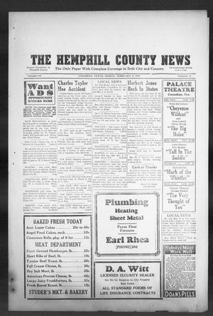 Primary view of object titled 'The Hemphill County News (Canadian, Tex), Vol. 7, No. 23, Ed. 1, Friday, February 9, 1945'.