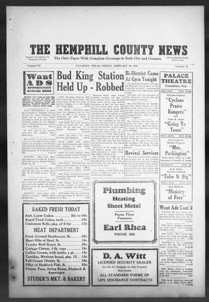 Primary view of object titled 'The Hemphill County News (Canadian, Tex), Vol. 7, No. 25, Ed. 1, Friday, February 23, 1945'.