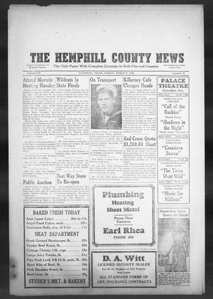 Primary view of object titled 'The Hemphill County News (Canadian, Tex), Vol. 7, No. 27, Ed. 1, Friday, March 9, 1945'.