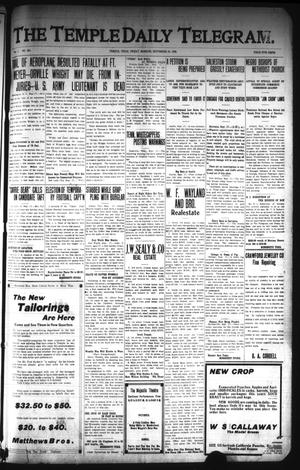 Primary view of object titled 'The Temple Daily Telegram. (Temple, Tex.), Vol. 1, No. 261, Ed. 1 Friday, September 18, 1908'.