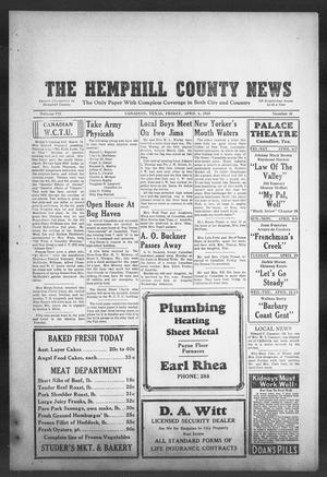 Primary view of object titled 'The Hemphill County News (Canadian, Tex), Vol. 7, No. 31, Ed. 1, Friday, April 6, 1945'.