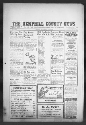 Primary view of object titled 'The Hemphill County News (Canadian, Tex), Vol. 7, No. 37, Ed. 1, Friday, May 18, 1945'.