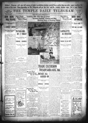Primary view of object titled 'The Temple Daily Telegram (Temple, Tex.), Vol. 4, No. 209, Ed. 1 Saturday, July 22, 1911'.