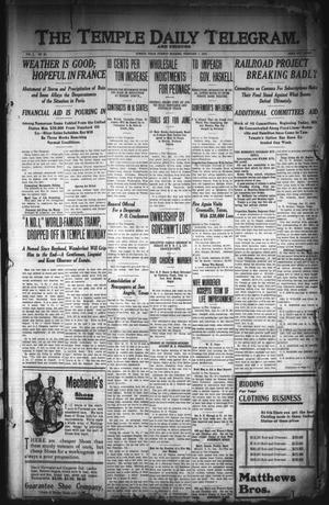 Primary view of object titled 'The Temple Daily Telegram. And Tribune (Temple, Tex.), Vol. 3, No. 64, Ed. 1 Tuesday, February 1, 1910'.