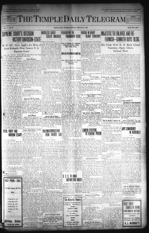 Primary view of object titled 'The Temple Daily Telegram (Temple, Tex.), Vol. 1, No. 87, Ed. 1 Thursday, February 27, 1908'.