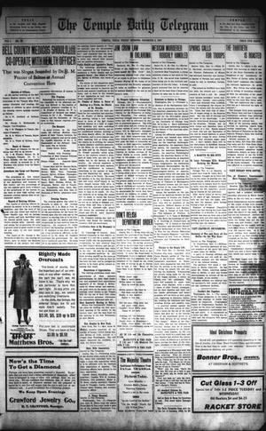 Primary view of object titled 'The Temple Daily Telegram (Temple, Tex.), Vol. 1, No. 16, Ed. 1 Friday, December 6, 1907'.