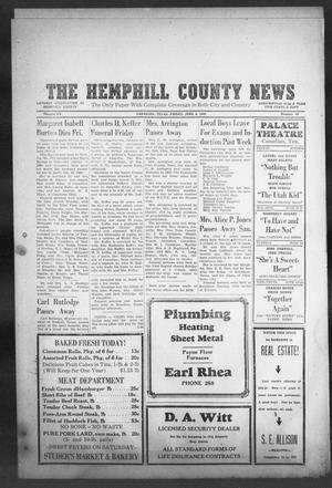 Primary view of object titled 'The Hemphill County News (Canadian, Tex), Vol. 7, No. 40, Ed. 1, Friday, June 8, 1945'.